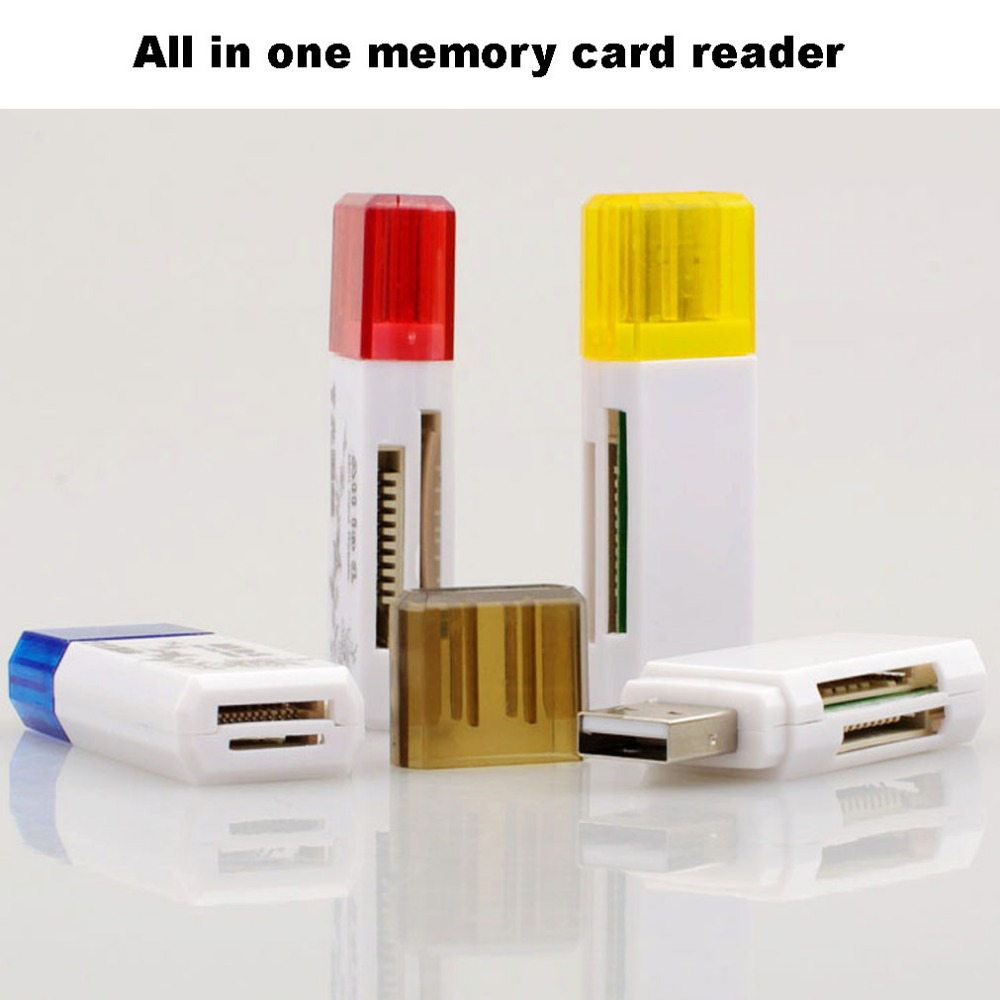 High Compatibility /Retail USB 2.0 All in One Multi Card Reader,TF/ MS/M2/SD/ SDHC SDXC Micro SD Memory Stick M2 hot ca24(China (Mainland))