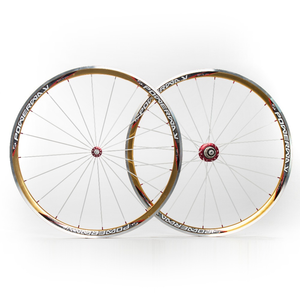 Powerway Road Bike 700C Wheels Silver-Golden Cycling Ultralight Wheelsets-Solohomer For Shimano 9/10S Bicycle Parts(China (Mainland))