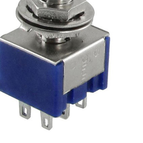 SZS Wholesale 5pcs 3 Position 2P2T DPDT ON-OFF-ON Miniature Mini Toggle Switch<br><br>Aliexpress