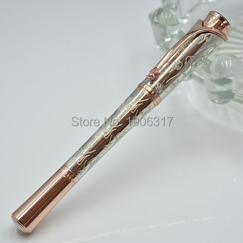 luxury Monaco princess grace kelly Silver carve monte roller ball pen stationery school office supplies Writing smooth mb pen M1<br><br>Aliexpress