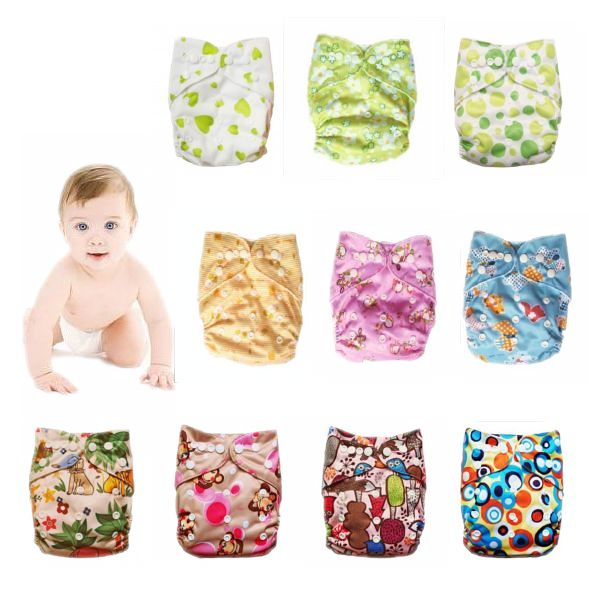 Здесь можно купить  New Year Nano Printed baby diaper items leak-proof breathable pocket Cute newborn fitness Nappies adjustable pants FREE SHIPPING  Детские товары