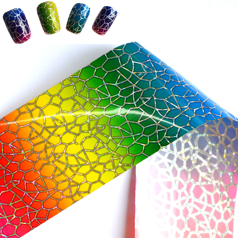 100cmx4cm Glitter Nail Transfer Foil Sticker Nail Art Decal Polish Glue Beauty Manicure Accessory Decoration Tool STZXK22(China (Mainland))