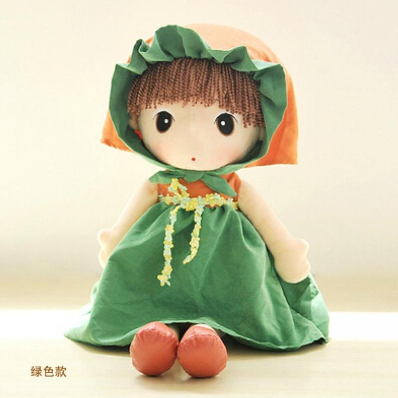 Korean Fairy Tale Phyl Doll Plush Toys For Children Lovely Doll Girl Doll Birthday Gift Lifelike Reborn Baby Dolls Kids Toys(China (Mainland))