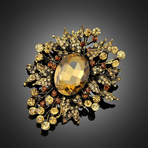 Vintage Fancy Rhinestone Flower Brooches for Women Brooch Pins Jewelry Wedding Decoration(China (Mainland))