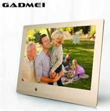 New 8 inch Fashion HD Metal Digital Photo Frame, Ultra Slim , Clock & Calendar function, MP3 & Video Player, Best Gift