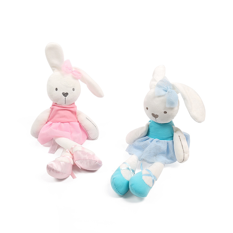 45cm Cute Rabbit with Pink Dress Baby Plush Toy Soft Ballet Bunny Rabbit Doll Kids Comfort Appease Doll Best Gift for Children(China (Mainland))