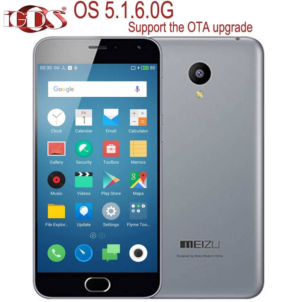 "Original Meizu M2 mini 4G FDD LTE 5.0"" Screen 1280X720P MTK6735 Quad Core 13.0MP Android Flyme 5.1.6.0G Support OTA cell phone(China (Mainland))"