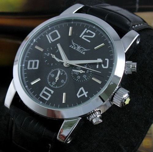 JARAGAR Male Relogios 6 Hands Auto Date Day Stainless Steel Case Men's Automatic Mechanical Watch(China (Mainland))