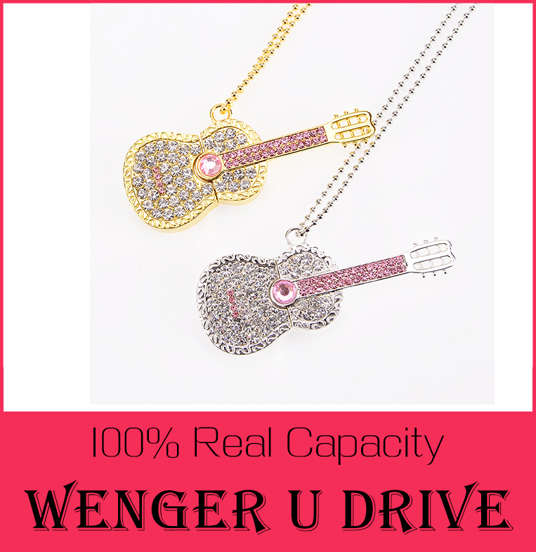 Colorful Diamond USB Flash Drive 8GB 16GB Pen Drive 32GB Pendrive U Disk Gold Silver Crystal Guitar Memory stick SWAROVSKI Gift(China (Mainland))