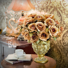 Fashion artificial flower rose artificial flower decoration flower wedding gift(China (Mainland))