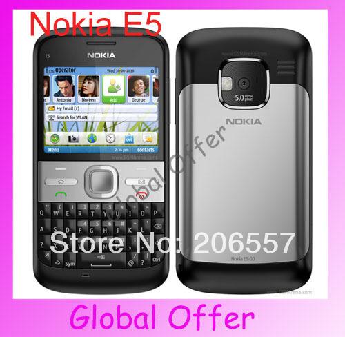 E5 Original Nokia E5 Mobile Phones Camera 5MP Unlocked E5 3G Cellphone refurbished 1 year warranty Free S/H(China (Mainland))
