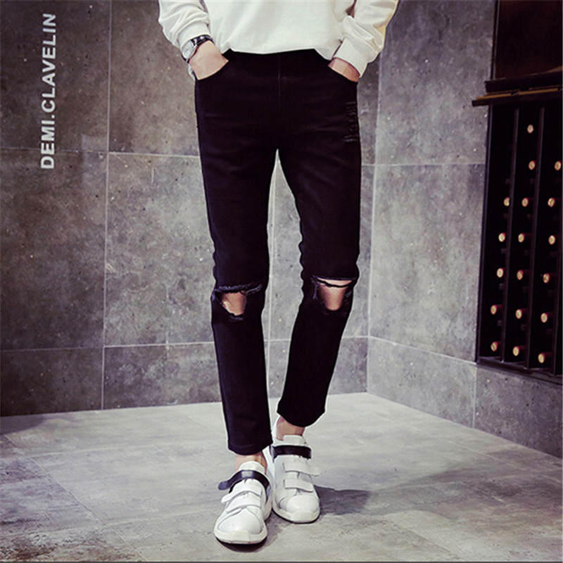Mens Ripped Black Jeans - Xtellar Jeans