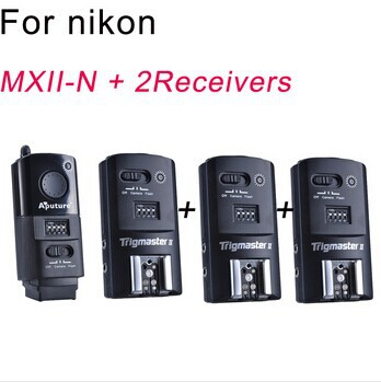 Free Shipping Aputure Flash Trigger Trigmaster II 2.4G MXII-N + 2 receivers for Nikon 16 Channels(China (Mainland))