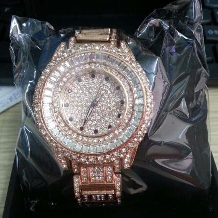 2014 Luxury Ladies Watch Crystal Women Watches Gold Dress Watch.Fashion Quartz Rhinestone Wristwatches Female Clocks B25<br><br>Aliexpress
