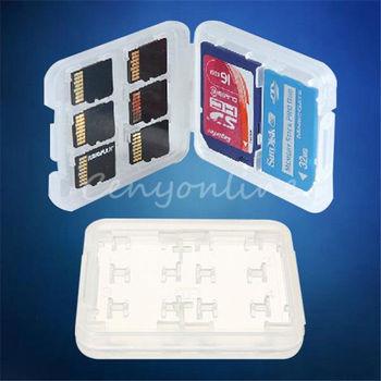 Лучшие 8 в 1 пластик микро-кольцо для SD SDHC TF MS хранения чехол коробка держателя