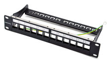 """12ports blank patch panel - suitable for cat.5e/cat.6 keystone modules - 10"""" Inch Rack Mount Incl. Cable Management Support Bar(China (Mainland))"""