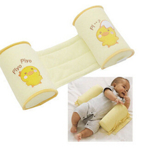 Free shipping Retail Cute baby sleeping shaping pillow toddler cotton anti roll sleep pillow TC-047(China (Mainland))