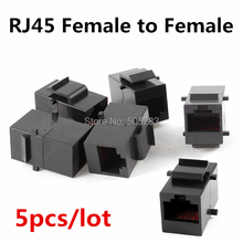 Buy 5x Cat5 5e RJ45 Connector Plug Socket RJ45 Network Cable Blank Panel Patch DIY RJ45 Extender Plug Joiner Coupler Adapter HY445*5 for $2.39 in AliExpress store