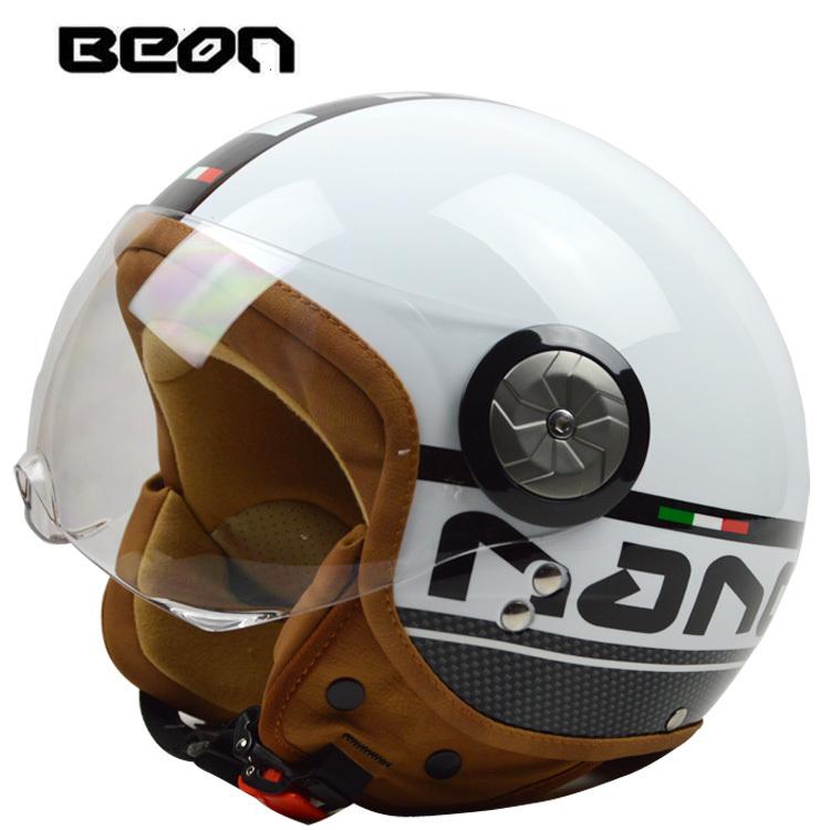 BEON Motorcycle Cruiser Vintage Retro Open Face Half Helmet M L XL DOT ECE blue pink black grey yellow(China (Mainland))