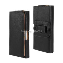 Fashion Lichee Pouch Smooth Waist Holder Leather Belt Flip Skin Pouch Covers Case for iPhone 6 4.7″ Waist Strap Cellphone Bags