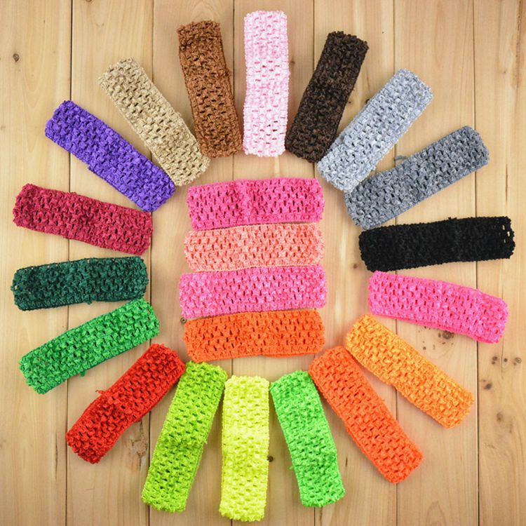 Elastic Crochet Headbands Newborn/ Infant /baby hairband Stretchy Hair bands Kid Girl Hair Accessary acessorios para cabelo(China (Mainland))