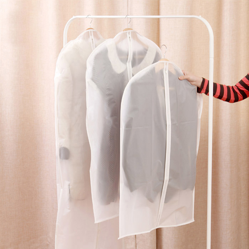 Transparent Garment Suit Coat Dust Cover Protector Wardrobe Storage Bag U0892(China (Mainland))