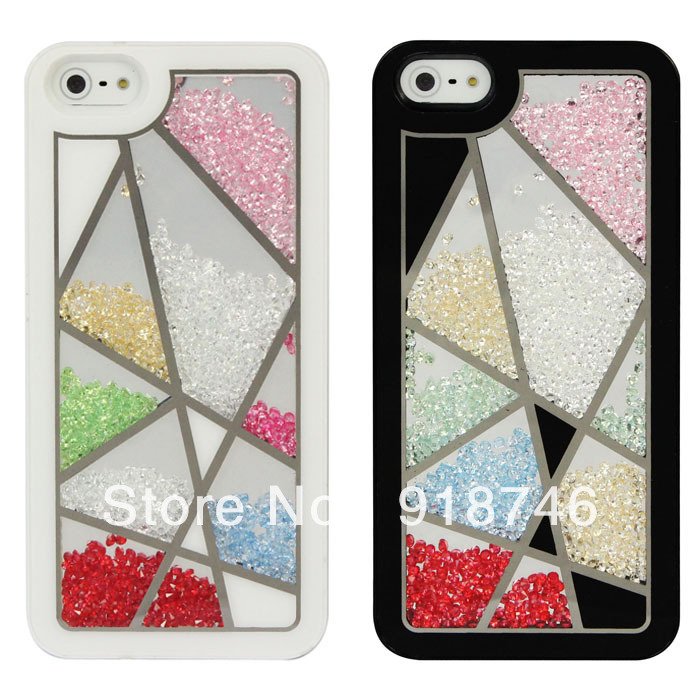 1PC Free Shipping Luxury Flexible Built-in Rhinestone Crystal Bird Nest PC Case Cover For Iphone 5 5G(China (Mainland))