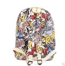 High quality fashion harajuku graffiti backpack backbag hip hop bag students backpack female school bags for