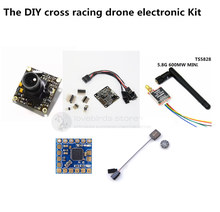 DIY mini cross racing drone FPV electronic Kit NAZE32 10 DOF+mini NA32 gps+mini OSD+TS5828 600MW+700TVL webcam for QAV250/ZMR250
