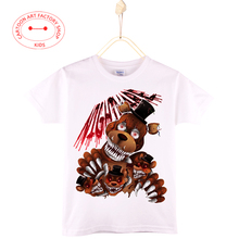 2016 New Children Casual Clothes Summer Kids T-shirts Boys Cotton Five Nights At Freddy 3D Print Girls Shirt Free Shipping