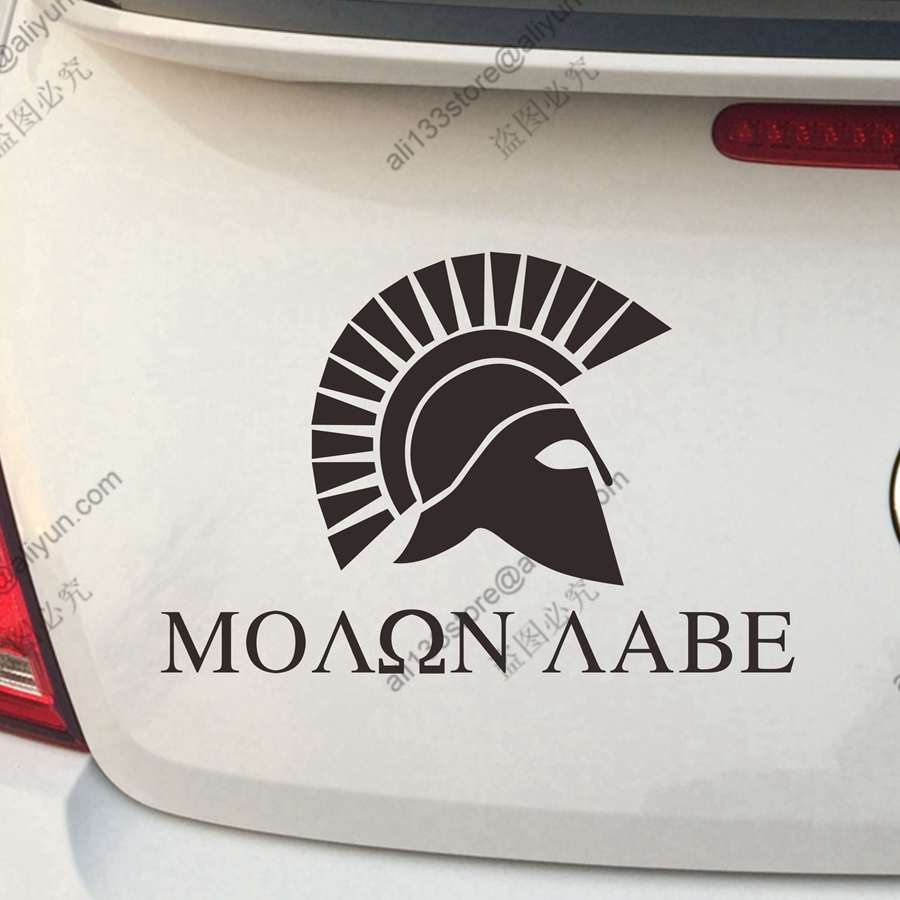 Bumper sticker api design - Molon Labe Come And Take It Spartan Car Sticker Decal Vinyl Bumper Truck Window Die