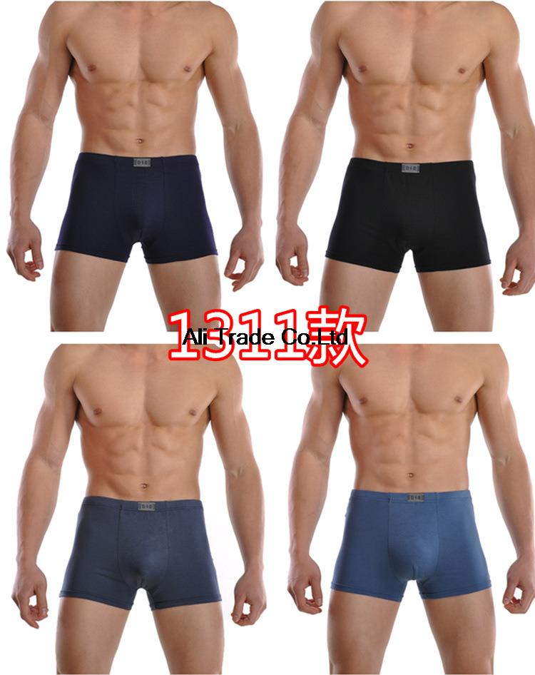 Hot Sale High Quality Sexy Men Bamboo Fiber Men Underwear Boxers (10pcs/lot) Breathable Men's Shorts Wholesale (M-XXL) For ok(China (Mainland))