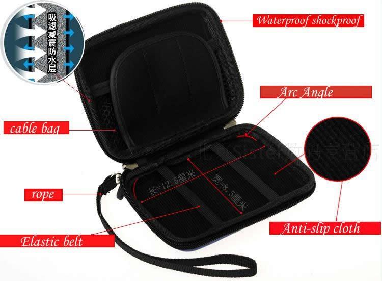 Waterproof dustproof Maxtor MY PASSPORT Elite 250G 320G 500G 750G GB 1TB 2TB Portable Hard Drive Case+Free shipping(China (Mainland))