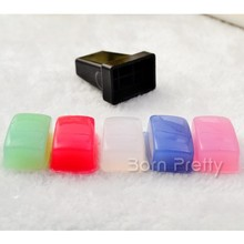 5pcs Marshmallow Squishy Stamper Head Stamping Refill Head with1pc Nail art Stamp Holder