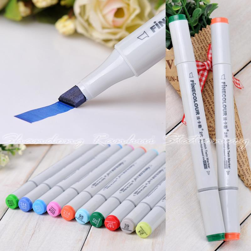 Гаджет  24/36/48/60/72 P Colors Standard package Marker Pen Finecolour-Two commonly used Sketch marker copic markers None Офисные и Школьные принадлежности