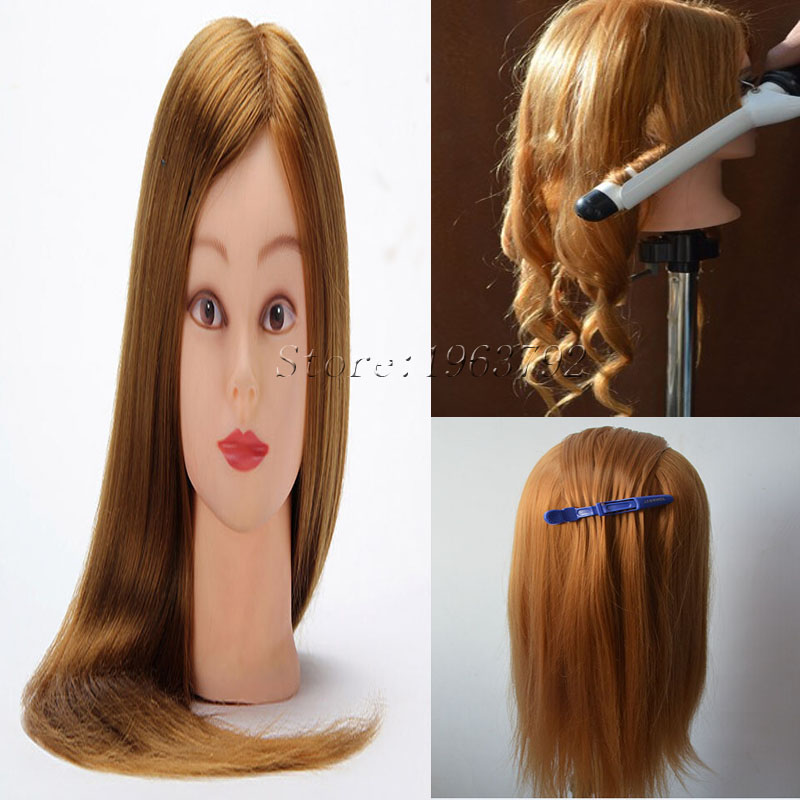 Training Mannequin Head For Hairdressers Practice 22quot; Gold