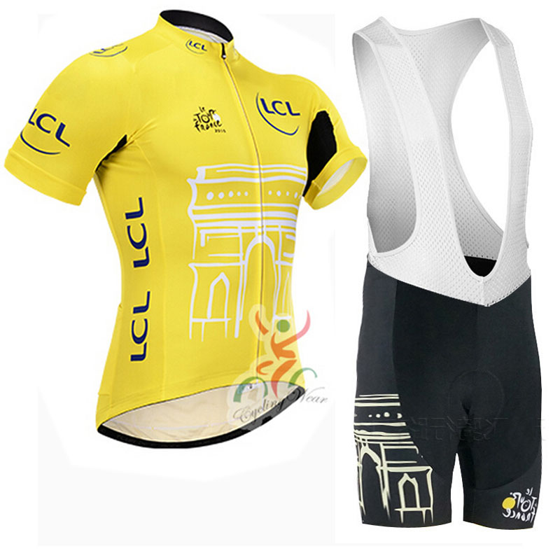 2015 Tour de France Racing Bike Cycling Clothing Cycle Cycling Jersey/Breathable Mountain Bicycle Sportswear Roupa Ciclismo(China (Mainland))