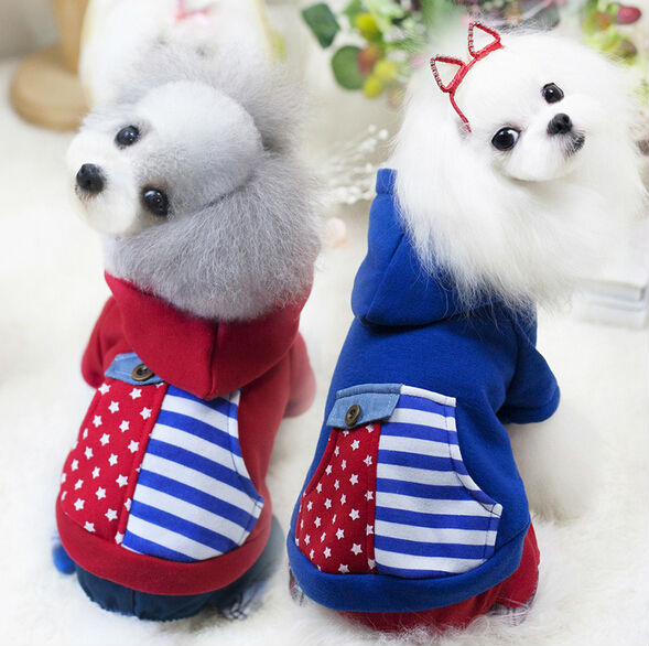 New Fashion Colorful Pet Dog Hoodie Coat Spring Autumn Puppy Sweater Shirt Soft Fleece Cotton Dog Sport Clothes XS-XL(China (Mainland))