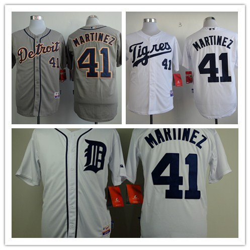 Hot Sale Mens Detroit Tigers Jerseys #41 Victor Martinez Baseball Jersey,100% Stitched Name And Number,Accept Mixed Orders