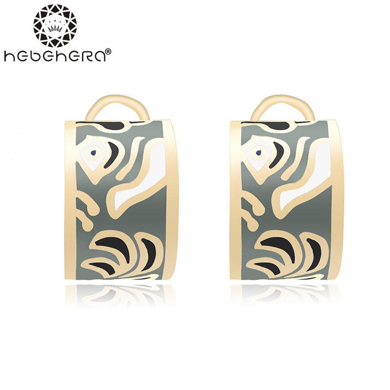 Wedding Jewelry Women Earrings Bijoux 18K Rose Gold Plate Enamel Earring E19(China (Mainland))