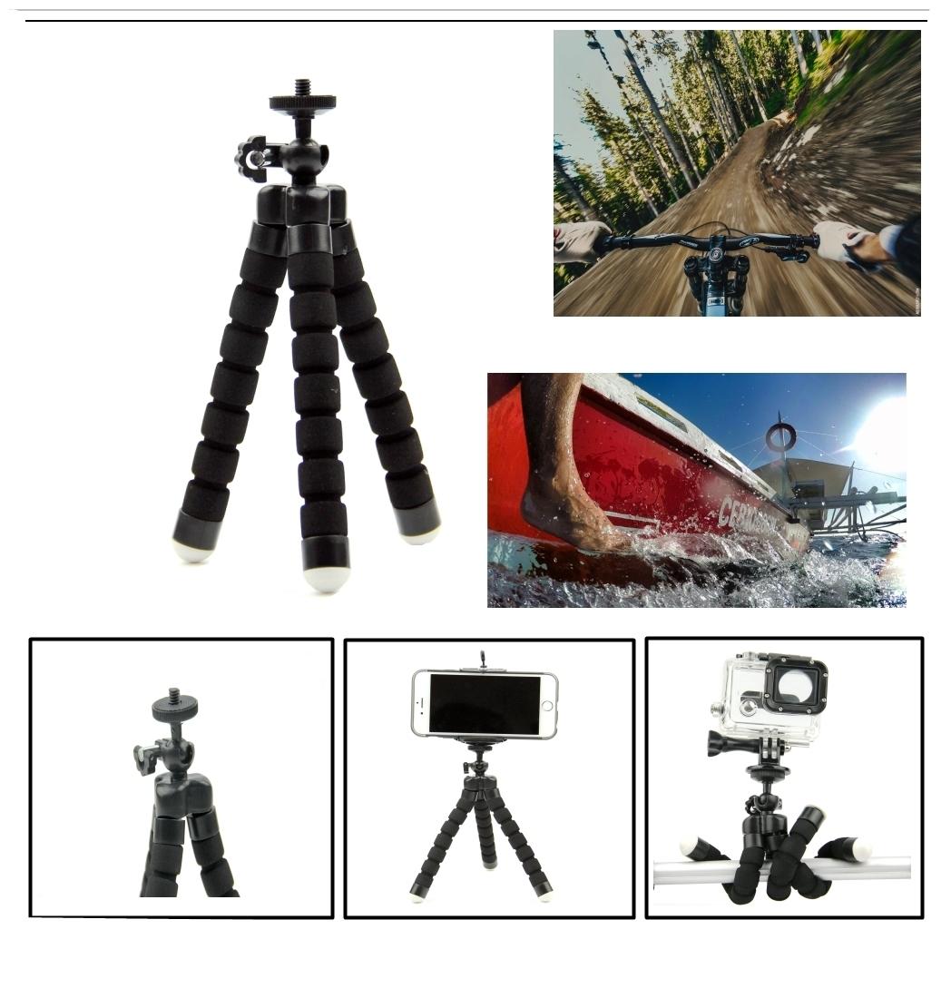 SnowHu For Xiaomi Yi 4K Accessories Selfie  Octopus Tripod For Xiaomi Yi 4K Yi2 Action International Action Camera   Y27