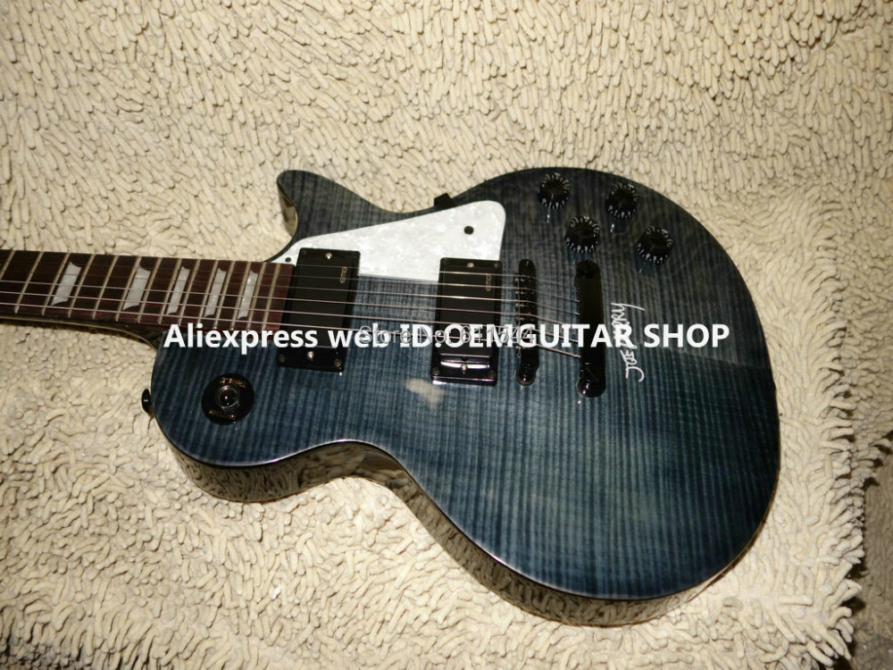 Custom Shop Joe Perry Gray Flame maple top Electric Guitar Mahogany High Quality Cheap(China (Mainland))