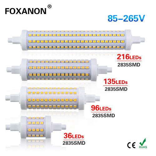 Foxanon R7S LED Light 78mm 118mm 135mm 190mm J78 J118 85-265V Dimmable Spotlights SMD 2835 Bulb lamp Replace halogen floodlight(China (Mainland))