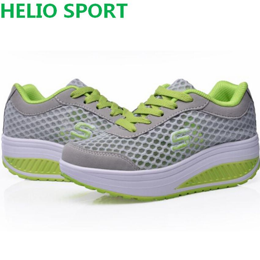 women new running shoes breathable swing platform ladies trainers shoes zapatillas mujer women running sport shoes sneakers 23d8(China (Mainland))