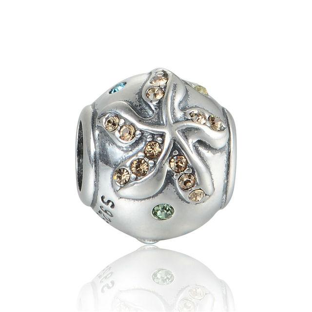 925 - серебристо-ювелирные бусины X382 кристалл проложить очарование бусины Fit Chamilia пандора браслет серебро 925 ювелирных изделий DIY
