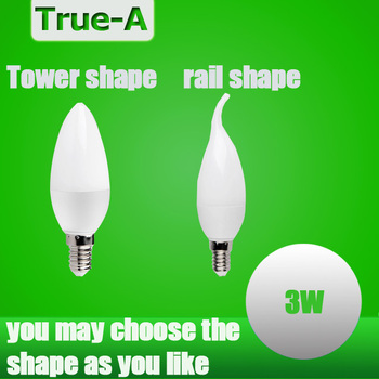 LED Candle Bulb High quality E14 3W LED Candle Lamp low-Carbon life SMD2835 AC220-240V Warm White/White Energy Saving