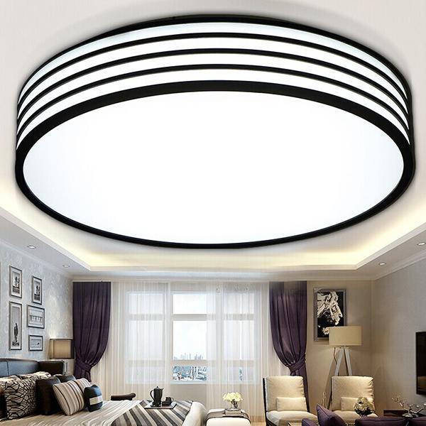 Led Ceiling Lights Square Kitchen Light Modern Lamp Restaurant / Bathroom Lamps Reflex Black Border Led Lighting Round 28cm(China (Mainland))