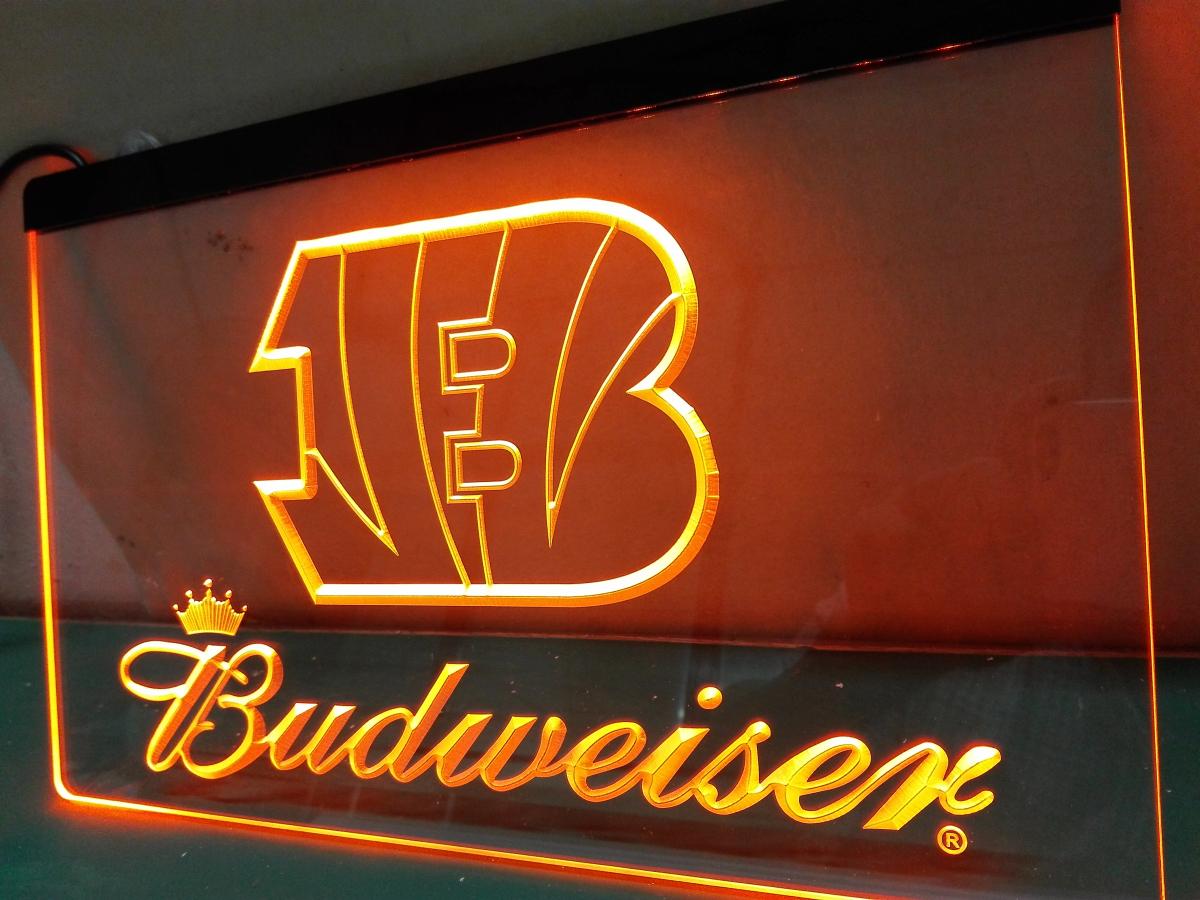 LD272- Cincinnati Bengals Budweiser LED Neon Light Sign(China (Mainland))