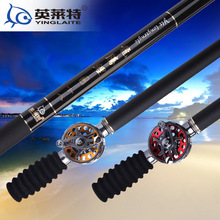 Buy hollow rod 28 brand in tune 3.6-6.3 meters high traces of carbon Taiwan fishing gear ratios through fishing rods metal reel for $129.15 in AliExpress store