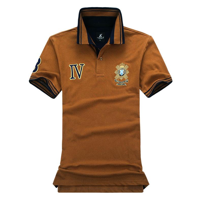 Brand polo shirt men solid shirts embroidery logo short for Polo brand polo shirts